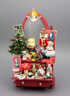 1//12 Puppenhaus Puppenstube Christmas Weihnachten Dekoration Zubehör Satz