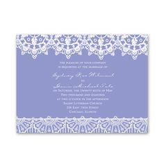 Exotic Lace - Petite Invitation Choose your color  grape avail  300 $197.91 6 1/4 x 4 5/8