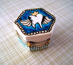#tooth fairy keepsake box. A hand #painted ceramic box to hide your child's lost tooth in for Tooth Fairy pick up!