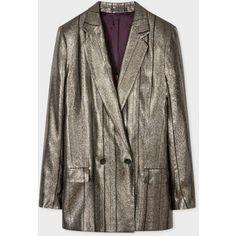 PS Paul Smith Women's Metallic Double-Breasted Blazer