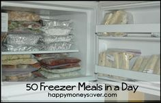 50 Freezer Meals in a Day - Great instructions for freezer meal beginners and lots of good recipes for all