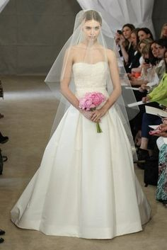 Carolina Herrera Bridal Spring 2013  #Treswedding