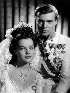 The Austrianborn French actress Romy Schneider and the Austrian actor Karlheinz Boehm acting in the film 'Sissi' Austria 1955