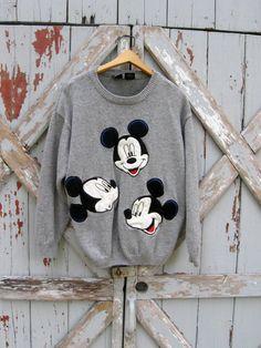 M-I-C-K-E-Y  vintage 80s Mickey & Co. sweater L
