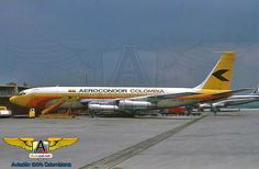 HK-1818 Boeing 707-123BF, en Eldorado. Cargo Aircraft, Boeing Aircraft, Boeing 707, Latin America, Airplanes, Aviation, Jet, Commercial, Vintage Airplanes