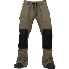 Style and function in one- keep butts dry when sitting in the snow. Burton Southside Slim Pant in Canteen