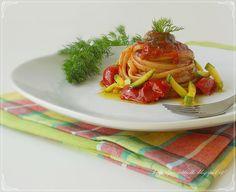 Le Torte di Pezzettiello e non solo...: Linguine con alici in salsa piccante