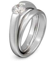 double loop diamond solitaire ring