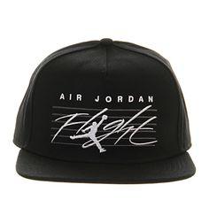Nike Jordan Nike Jordan Snapback Cap Black White Flight - Sports Accessories