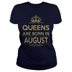 I Love QUEENS ARE BORN IN AUGUST Shirts & Tees