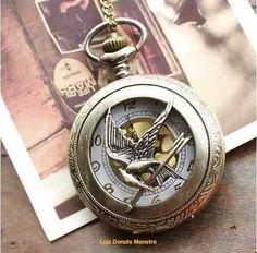 Relógio De Luxo Em Bronze - Tordo Jogos Vorazes Hunger Games