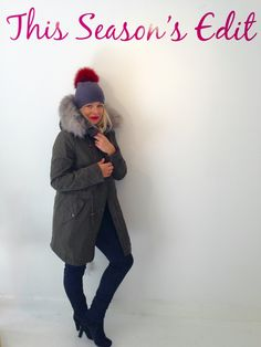 Cashmere, Fur Bobble Hat - Accessories - Fashion : Travelling Bazaar streetstyle parka Parka of London UK