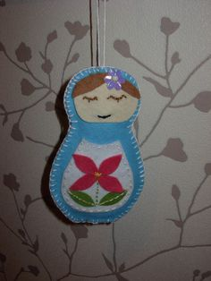 My first homemade Christmas decoration - little Russian doll