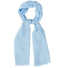 Denis Colomb Samba linen scarf (1 885 SEK) ❤ liked on Polyvore featuring accessories, scarves, light blue, evening wrap shawl, wrap shawl, summer scarves, holiday scarves and summer shawl
