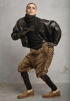 Chi Chi wears a jacket by Gucci, top and shorts by Y-3, leggings by Givenchy, gloves by Burberry and shoes by Christian Louboutin. Timothy Greenfield-Sanders shot and Timothy Reukof styled members of New York's Kiki and Mainstream house ball scenes for Paper's October nightlife issue.