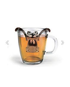 Bolsa de té metálica con forma de rana que se ajusta a la taza