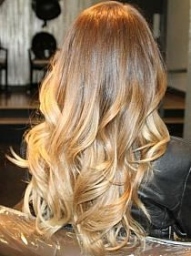 Ombre hair has become extremely popular over the past several years the ends of their hair blonde truth be told, Ombre comes in absolutely every shade! Blonde ombre hair only works . Dark Blonde Ombre Hair, Hair Blond, Ombre Hair Color, Cool Hair Color, Brown Blonde, Brown Hair, Curls For Long Hair, Long Curly Hair, Curly Hair Styles