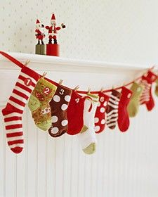 A doable and cute advent calendar, could also mix it up with or just use mittens