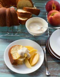 Greek Yogurt Pound Cake | http://www.ihearteating.com | #sourcream #light