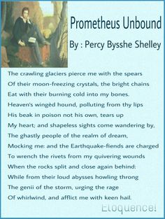 Prometheus Unbound, By: P. B. Shelley