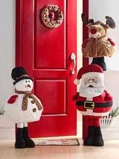 Muñecos para la entrada de la casa