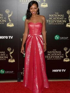 "2014 Daytime Emmy Awards - Actress Mishael Morgan attends the ceremony. She has recently joined the CBS Daytime soap opera, ""The Young and the Restless,"" and is best known for her role as Hilary Curtis."