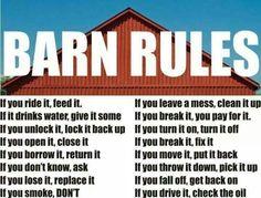 Barn Rules