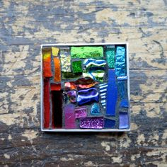 ROYGBV Brooch Rainbow for Your Coat by nutmegdesigns on Etsy