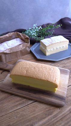 cottaスタッフさんの「ふるふる食感!台湾風カステラ」レシピ。製菓・製パン材料・調理器具の通販サイト【cotta*コッタ】では、人気・おすすめのお菓子、パンレシピも公開中!あなたのお菓子作り&パン作りを応援しています。 Japanese Cake, Japanese Sweets, Bread Recipes, Baking Recipes, Cake Recipes, Chiffon Cake, No Bake Desserts, Yummy Cakes, Deserts