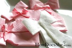 Napkin dress. Cute idea for a baby shower.