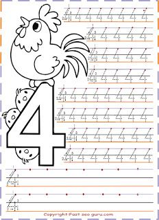 Tracing Numbers For Kidspreschool Worksheets Coloring Pages Print Out Handwriting Practice Sheet