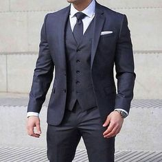 Look the best you possibly can in a dark grey three piece suit and a white classic shirt.   Shop this look on Lookastic: https://lookastic.com/men/looks/three-piece-suit-dress-shirt-tie/21232   — White Dress Shirt  — Charcoal Tie  — White Pocket Square  — Charcoal Three Piece Suit  — Silver Watch