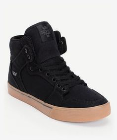 Upgrade your kicks game with these Zumiez Exclusive Supra Vaider high top  skate shoes. Step in confidence with a durable black canvas high top upper  on a ...
