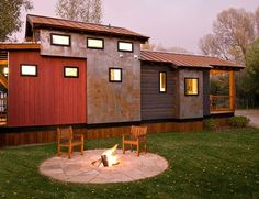 Many people consider a tiny house big living. Tiny houses have smaller sized everything. They have smaller appliances, smaller living. Tiny House Big Living, Best Tiny House, Modern Tiny House, Tiny House Cabin, Tiny House On Wheels, Small House Plans, My House, Small Living, Living Spaces