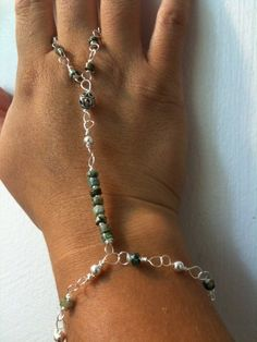 Turquoise and Sterling Silver Slave by InduInspirations on Etsy, $70.00