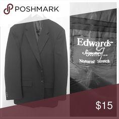 Edwards signature collection blazer No noticeable wear, dark gray Suits & Blazers Sport Coats & Blazers