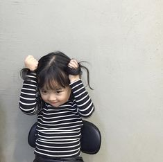 Cute Asian Babies, Asian Kids, Cute Babies, Jikook, Redhead Baby, Baby Tumblr, Ulzzang Kids, Stylish Baby, My Baby Girl