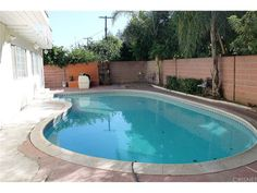 The pool has just had some recent repairs and upgrades. Great to have for those hot days in California. Parking for 3/4 cars with a 2 car garage.