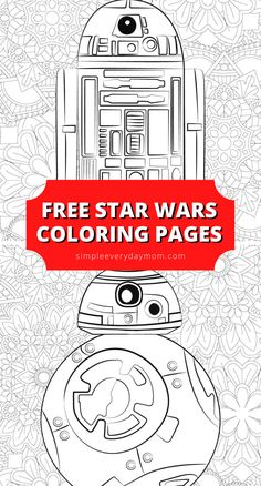 Kids & adults both will love coloring these free printable Star Wars coloring pages that feature & from Rogue One. Colouring Sheets, Coloring Sheets For Kids, Coloring Books, Star Wars Birthday, Star Wars Party, Star Wars Classroom, School Holiday Activities, Star Wars Colors, Leaving School