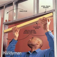 You'll like steel framing. <b>Steel studs</b> are perfectly straight, don't shrink or split. They're light, easy to store, resist fire, insects and rot. <b>Steel studs</b> are cheaper than wood. Metal Building Kits, Metal Building Homes, Building Plans, Metal Stud Framing, Steel Framing, Hanging Drywall, Drywall Screws, Steel Barns, Metal Workshop