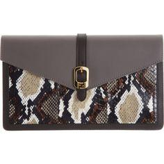 Fendi Snakeskin Chameleon Large Wallet Clutch at Barneys.com