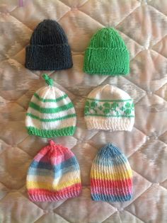 More knitted preemie hats