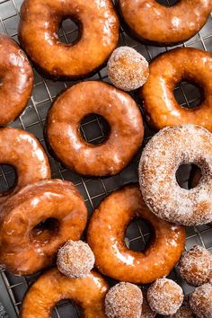 Yeasted gluten-free donuts fried to crisp perfection. Easily make gluten-free soft and fluffy donut-shop style glazed donuts at home!