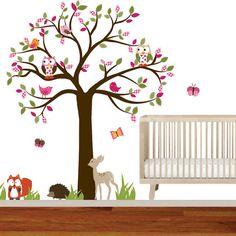 Vinyl Wall Decal Stickers Owl Tree Set Nursery by wallartdesign, $150.00