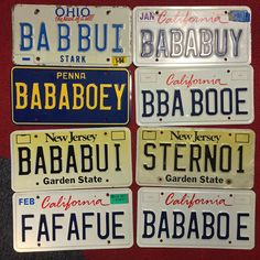 baba booey plates Howard Stern Show, New Jersey, I Laughed, Ohio, California, The Originals, Licence Plates, Turtle, Fan