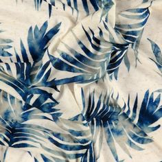 Linen/viscose jersey nature palm leaves - Stoff & Stil