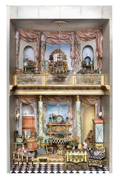 Good Sam Showcase of Miniatures: New from dealers (jt-pic 2/2 interior of Bluette Meloney's Kaleidoscope Shop. Furniture by the Teppers)