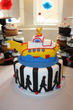 Beatles Themed Baby Shower--best cake ever?