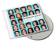 Throughout the school year take pictures at class events and gathers photos from other parents. Right before summer vacation, pick out a special song for the class and create a disk case with the year, their grade, and a drawing. Then load the images and make them into slide shows set to the kids' chosen songs. (They use Sony Vegas software.) The disks are given on the last day of school so the whole class can watch them.