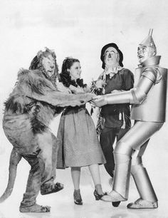 The Cowardly Lion, Dorothy, Scarecrow, and the Tin Man